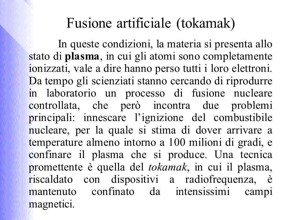 In queste condizioni, la materia si presenta allo stato di plasma, in cui gli atomi sono completamente ionizzati, vale a dire hanno perso tutti i loro