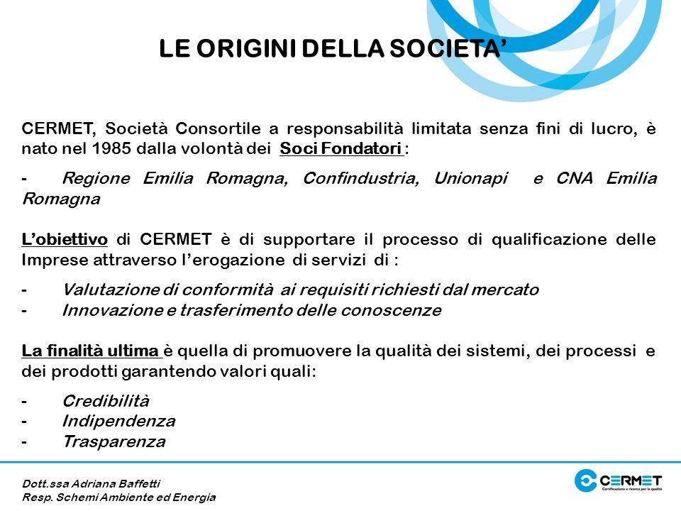 CERMET, Società Consortile a responsabilità limitata senza fini di lucro, è nato nel 1985 dalla volontà dei Soci Fondatori : - Regione Emilia Romagna,