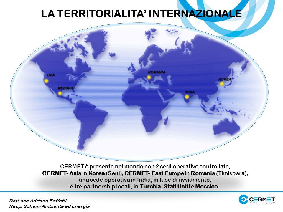 CERMET è presente nel mondo con 2 sedi operative controllate, CERMET- Asia in Korea (Seul), CERMET- East Europe in Romania (Timisoara), una sede opera