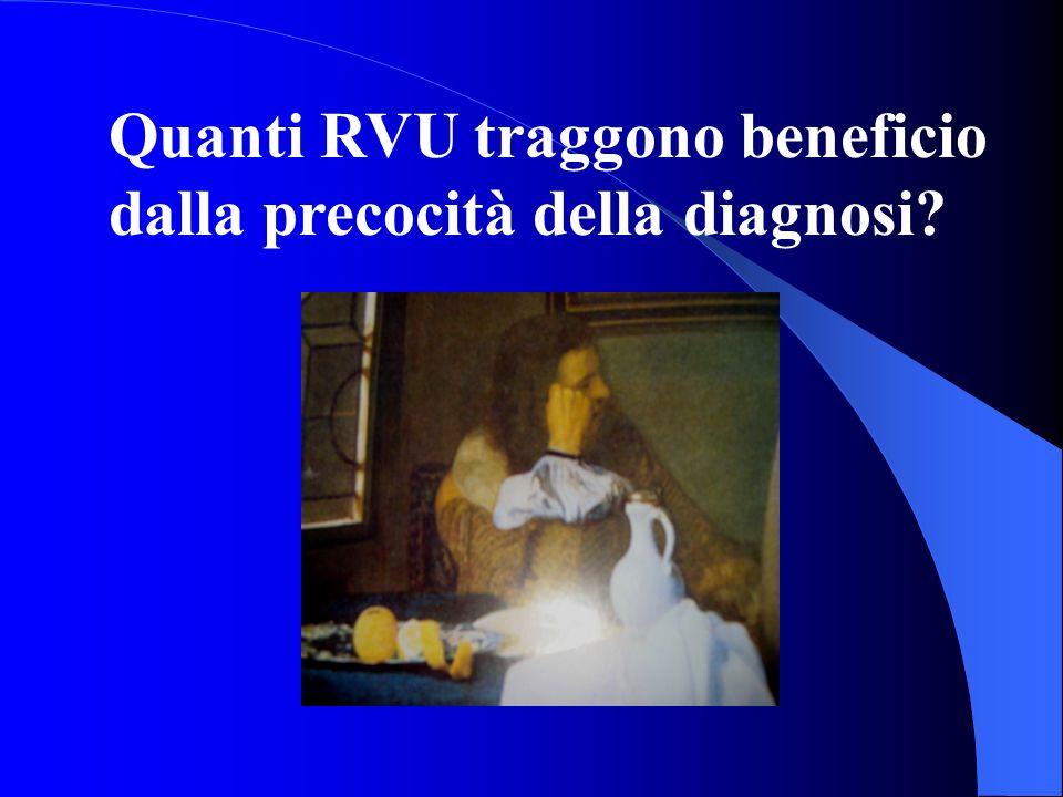 Quanti RVU traggono beneficio dalla precocità della diagnosi?