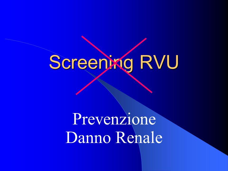 Screening RVU Prevenzione Danno Renale