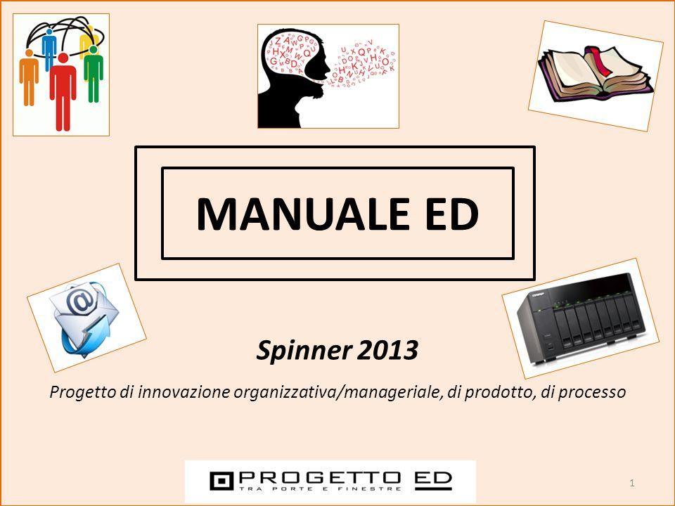 1 MANUALE ED Spinner 2013 Progetto di innovazione organizzativa/manageriale, di prodotto, di processo
