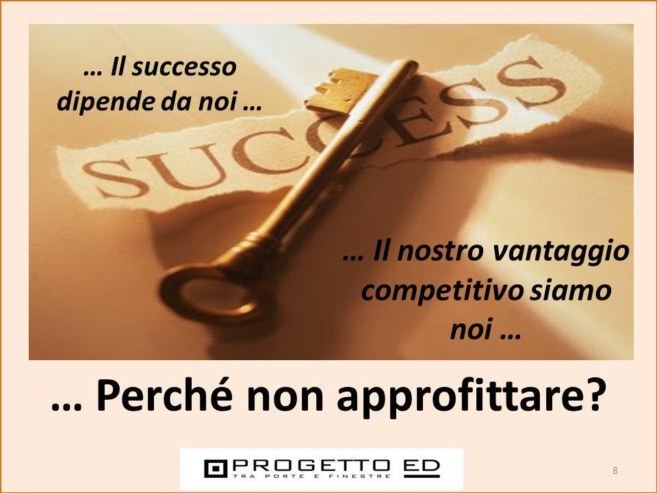 8 … Perché non approfittare? … Il successo dipende da noi … … Il nostro vantaggio competitivo siamo noi …