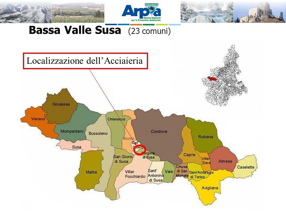Bassa Valle Susa (23 comuni) Localizzazione dellAcciaieria