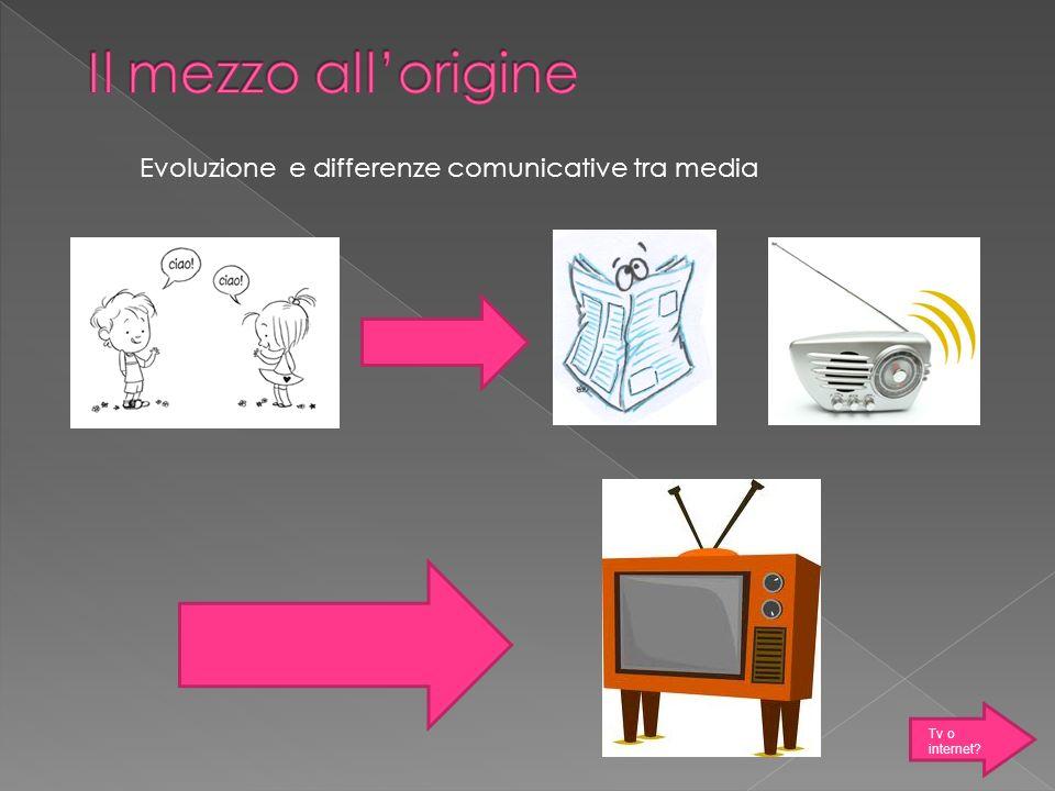 Evoluzione e differenze comunicative tra media Tv o internet?