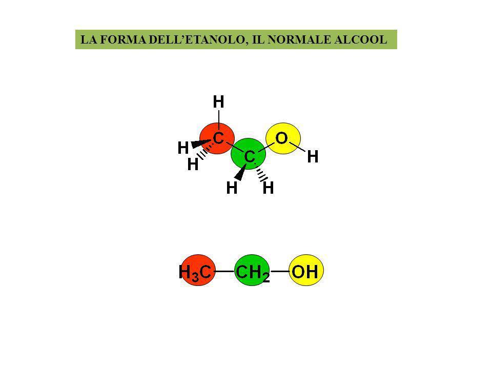 LA FORMA DELLETANOLO, IL NORMALE ALCOOL