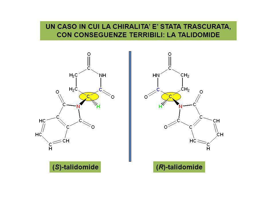 UN CASO IN CUI LA CHIRALITA E STATA TRASCURATA, CON CONSEGUENZE TERRIBILI: LA TALIDOMIDE (S)-talidomide(R)-talidomide