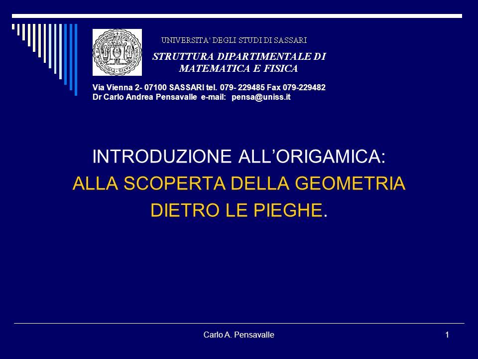 Carlo A. Pensavalle1 Via Vienna 2- 07100 SASSARI tel. 079- 229485 Fax 079-229482 Dr Carlo Andrea Pensavalle e-mail: pensa@uniss.it INTRODUZIONE ALLORI