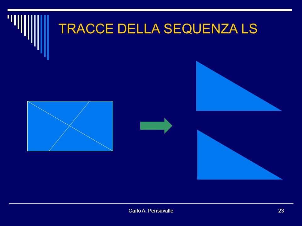 Carlo A. Pensavalle23 TRACCE DELLA SEQUENZA LS
