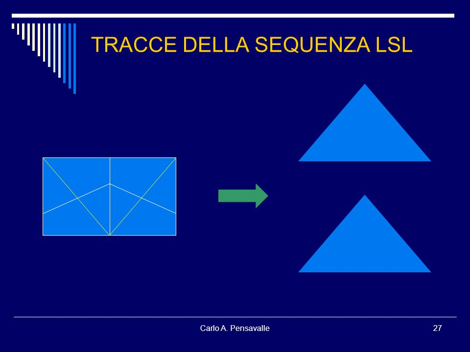Carlo A. Pensavalle27 TRACCE DELLA SEQUENZA LSL
