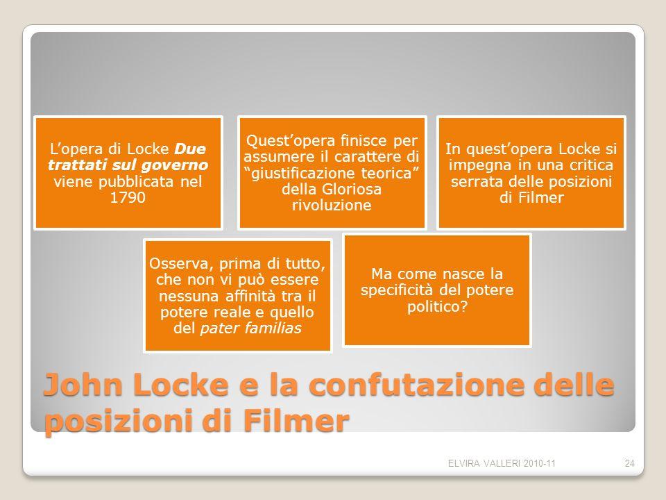 John Locke e la confutazione delle posizioni di Filmer Lopera di Locke Due trattati sul governo viene pubblicata nel 1790 Questopera finisce per assum