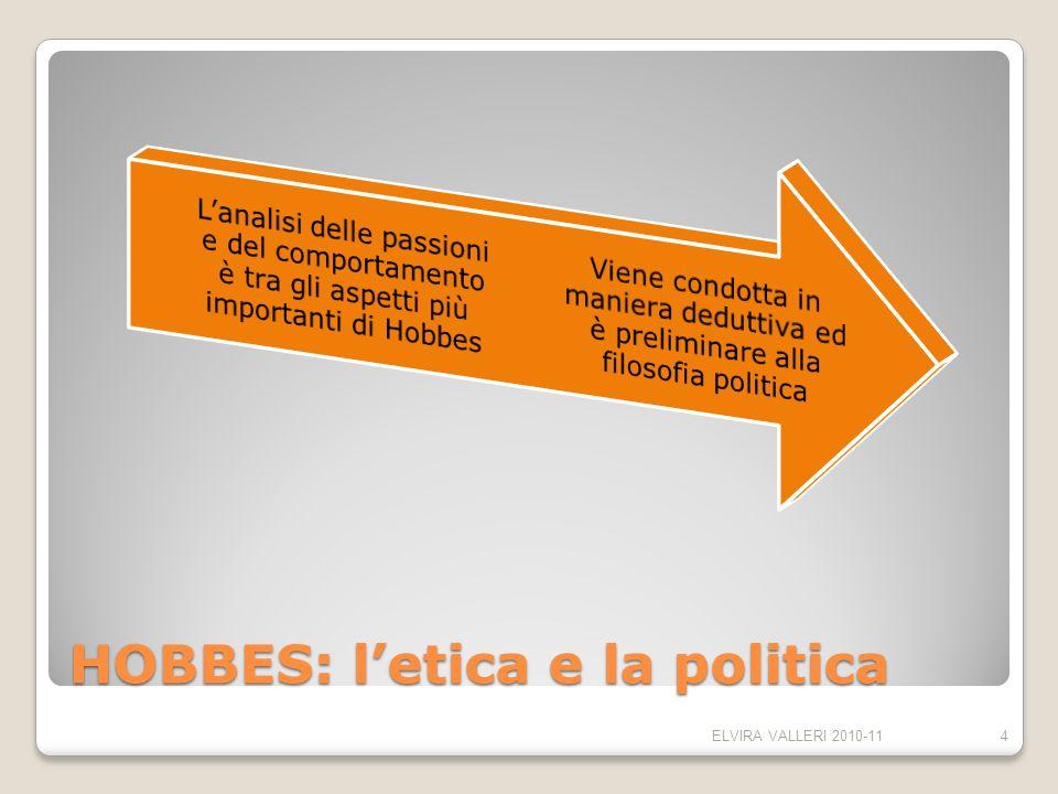 HOBBES: letica e la politica ELVIRA VALLERI 2010-114