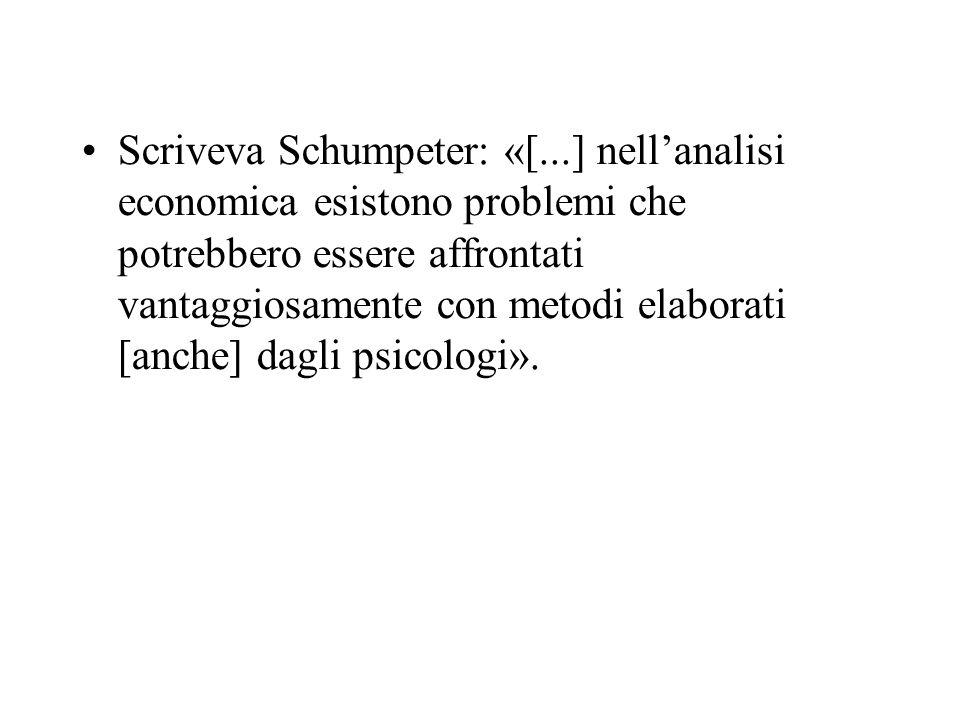 Scriveva Schumpeter: «[...] nellanalisi economica esistono problemi che potrebbero essere affrontati vantaggiosamente con metodi elaborati [anche] dag