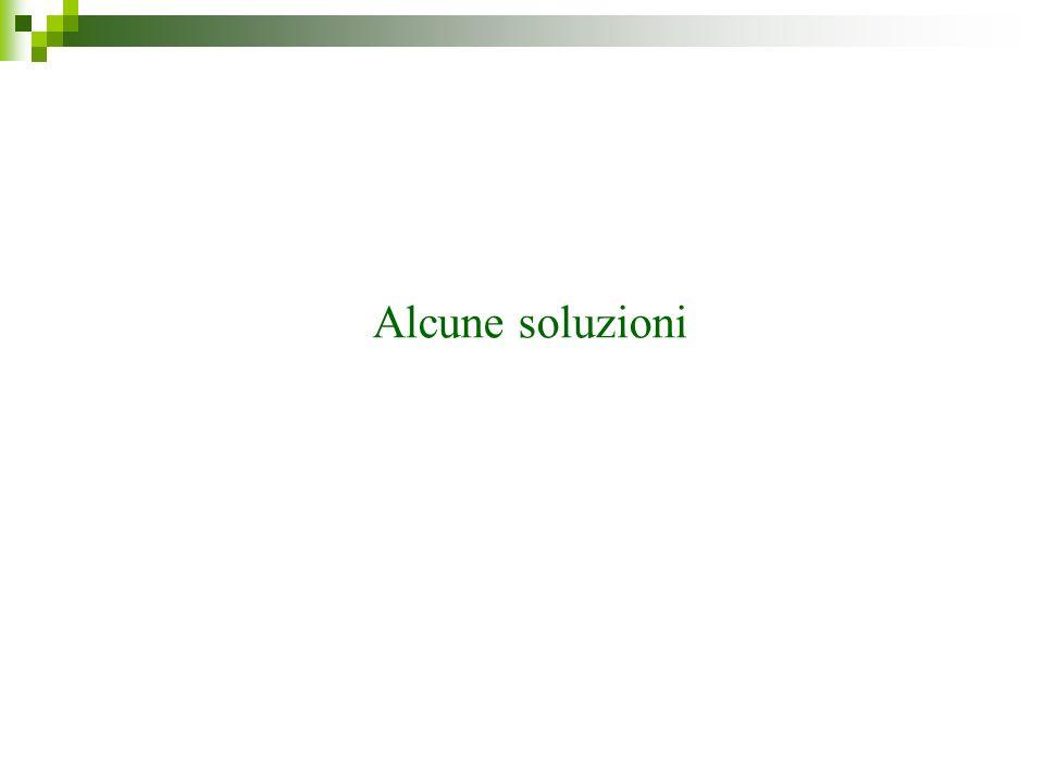Alcune soluzioni