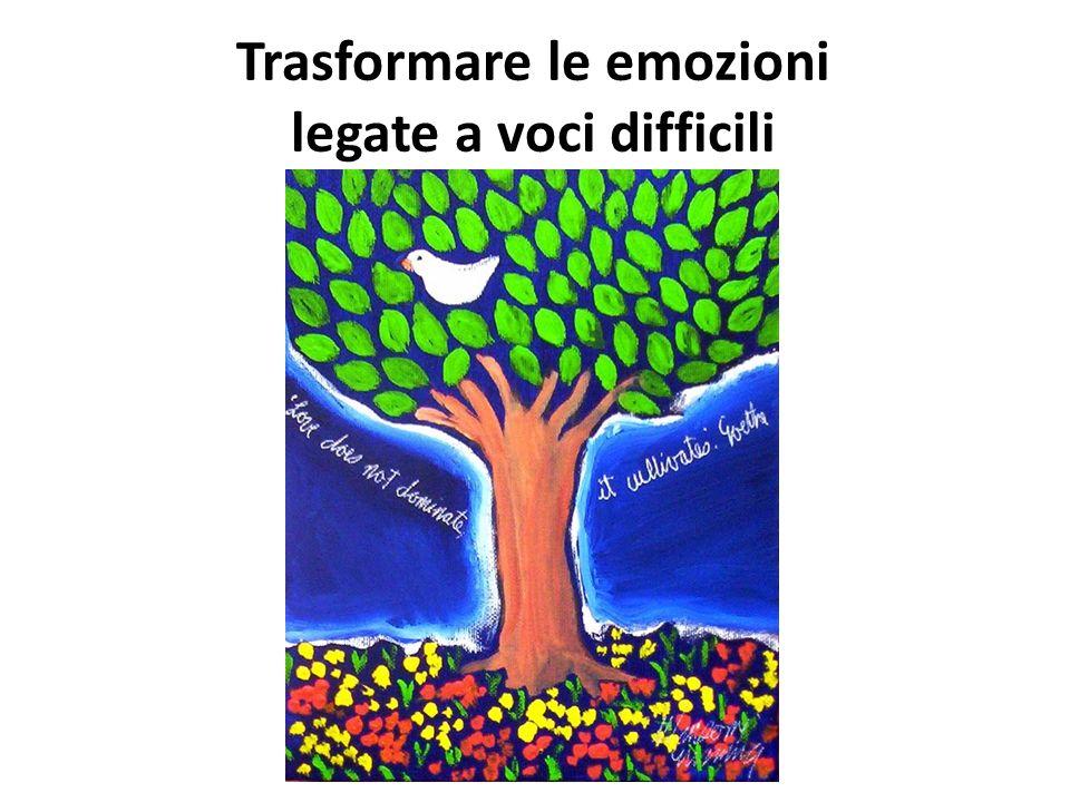 Trasformare le emozioni legate a voci difficili
