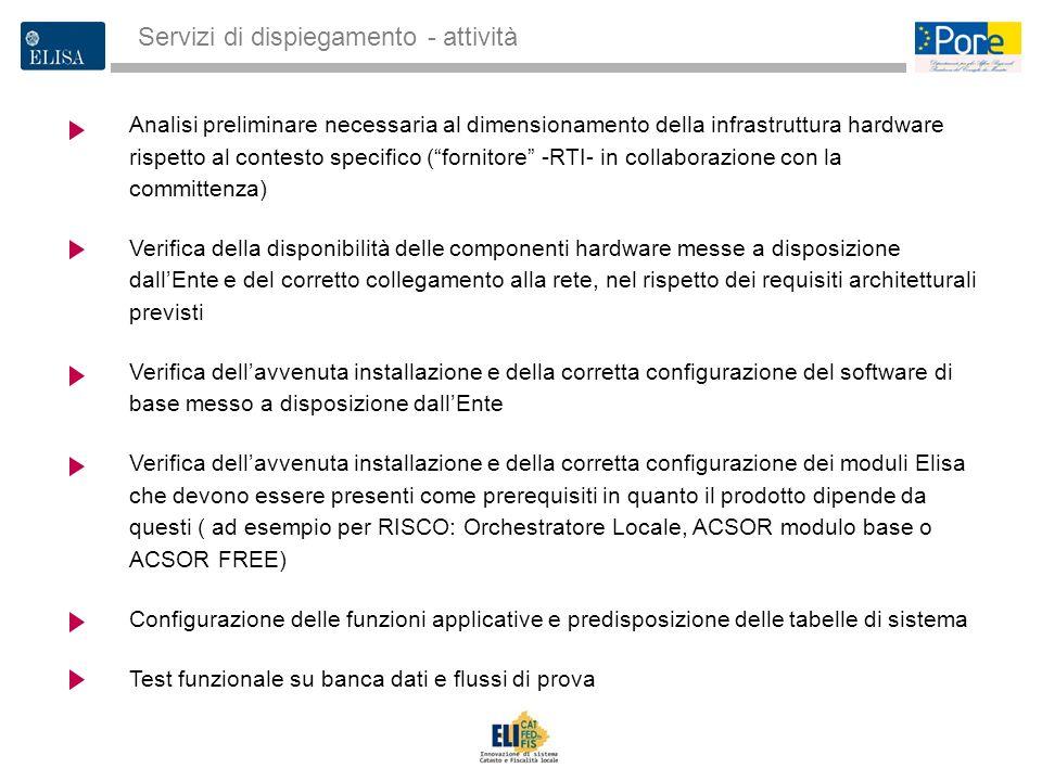 3 Analisi preliminare necessaria al dimensionamento della infrastruttura hardware rispetto al contesto specifico (fornitore -RTI- in collaborazione co