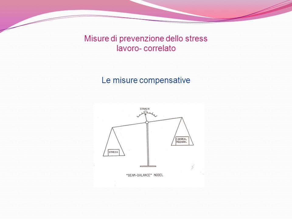 Le misure compensative Misure di prevenzione dello stress lavoro- correlato