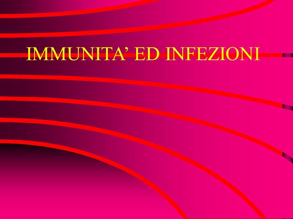 IMMUNITA ED INFEZIONI
