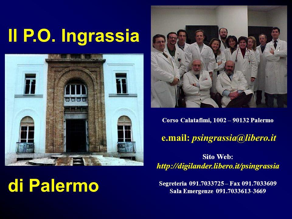 Il P.O. Ingrassia di Palermo Corso Calatafimi, 1002 – 90132 Palermo e.mail: psingrassia@libero.it Sito Web: http://digilander.libero.it/psingrassia Se