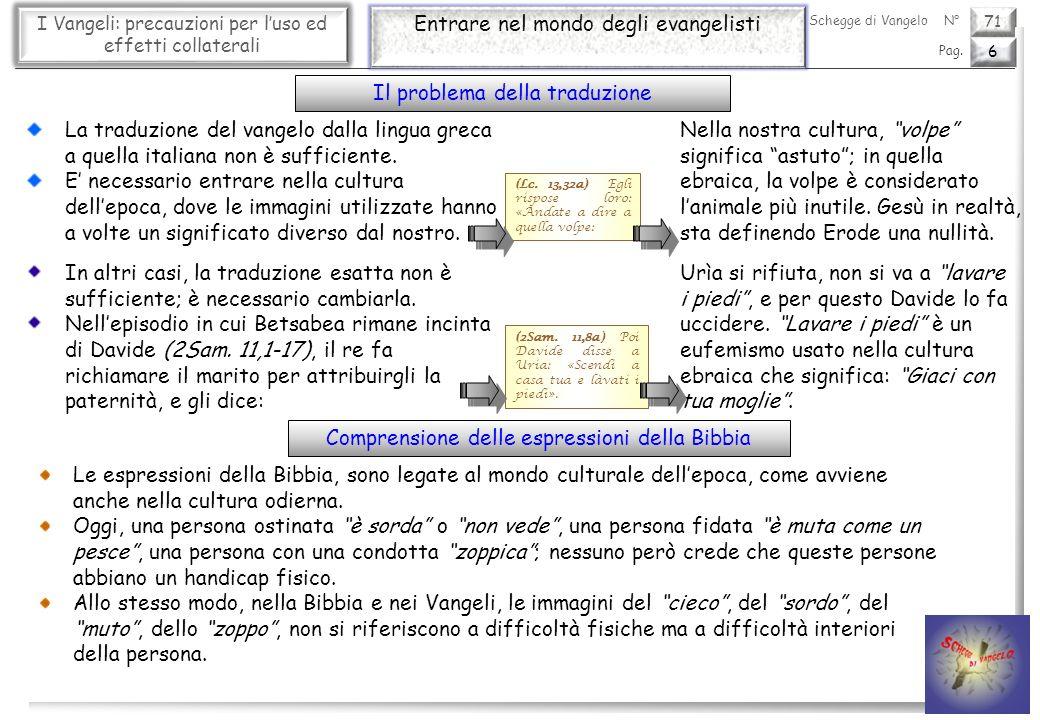 71 I Vangeli: precauzioni per luso ed effetti collaterali Un approccio corretto 7 Pag.