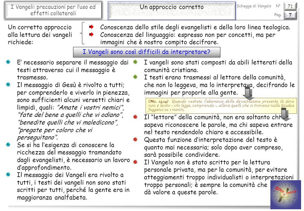 71 I Vangeli: precauzioni per luso ed effetti collaterali Le tecniche letterarie (1) 8 Pag.