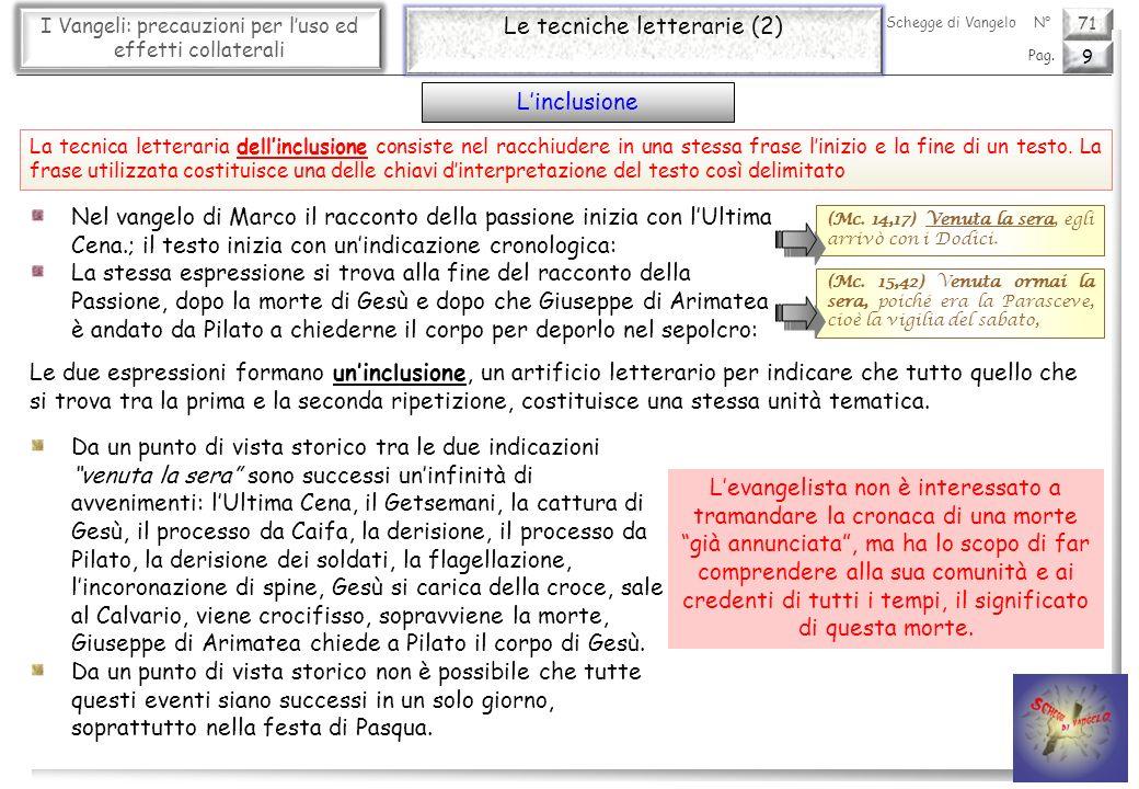 71 I Vangeli: precauzioni per luso ed effetti collaterali Le tecniche letterarie (3) 10 Pag.