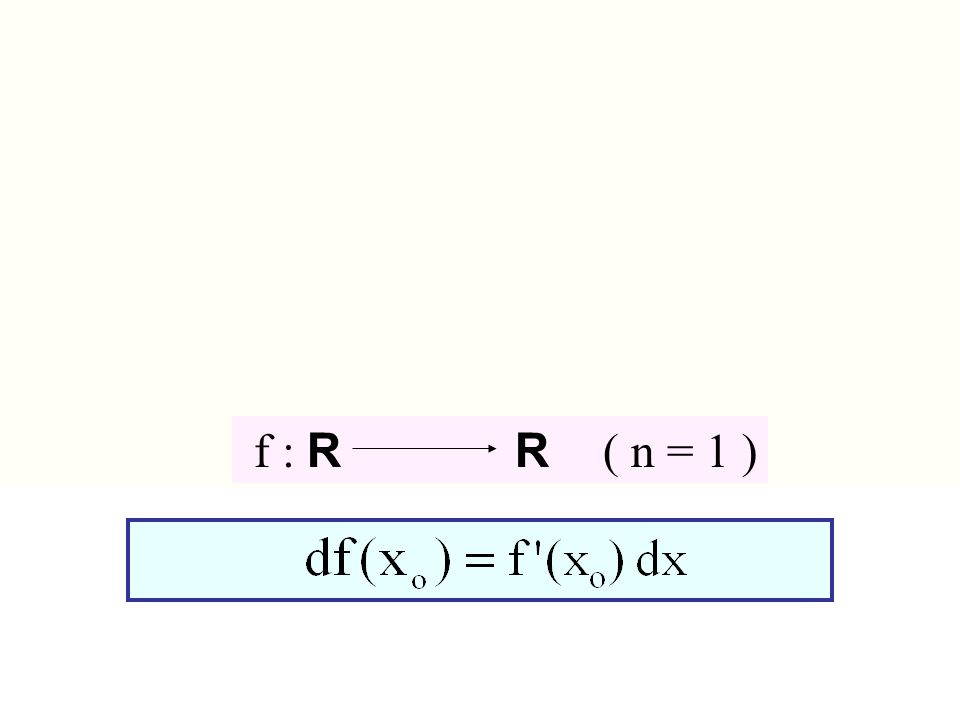 f : R n R f : R R ( n = 1 )