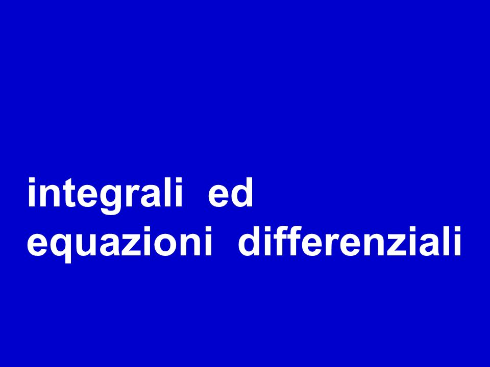 integrali ed equazioni differenziali titolo