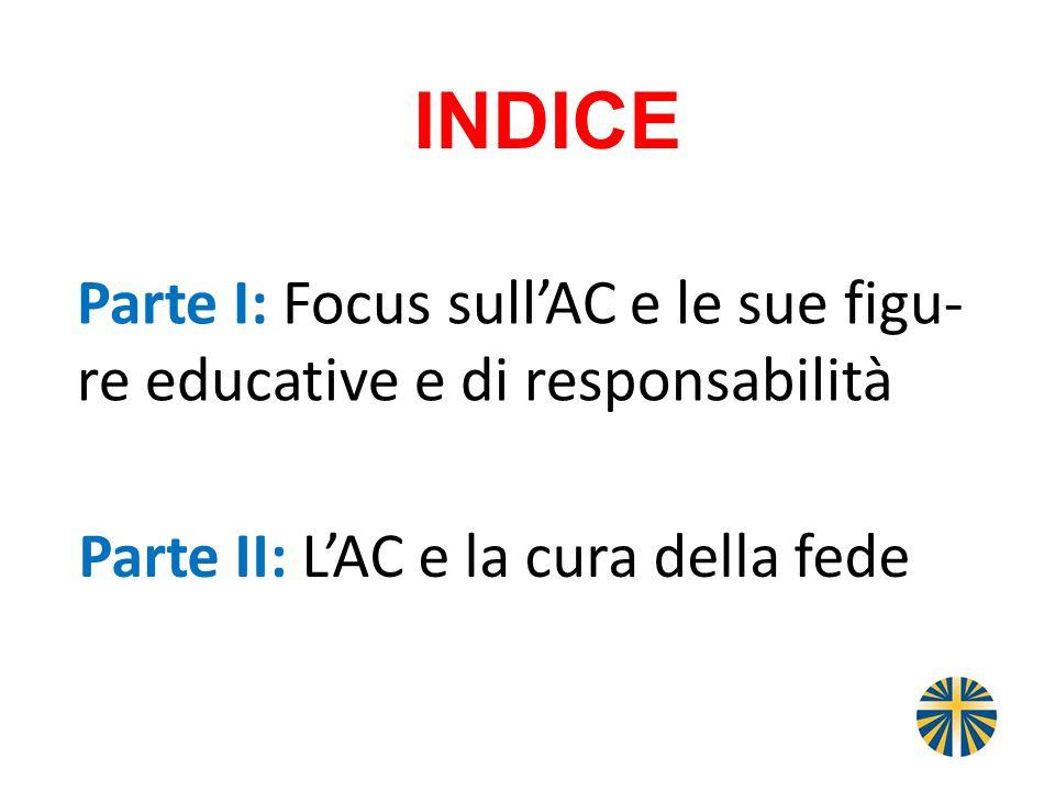 Parte I: Focus sullAC e le sue figu- re educative e di responsabilità Parte II: LAC e la cura della fede INDICE