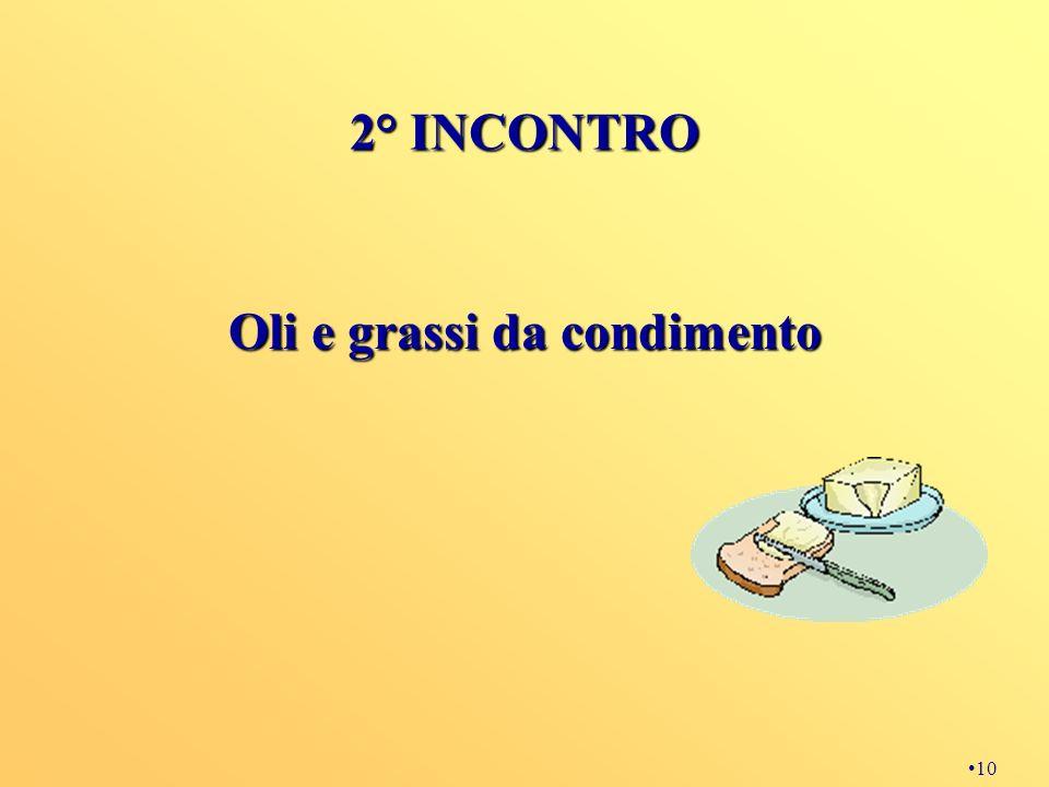 10 2° INCONTRO Oli e grassi da condimento