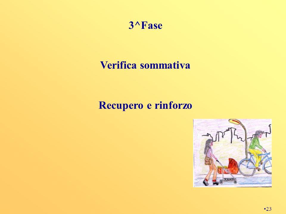 23 3^Fase Verifica sommativa Recupero e rinforzo