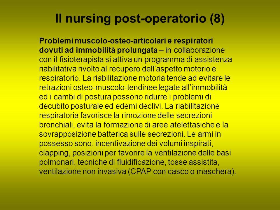 Il nursing post-operatorio (8) Problemi muscolo-osteo-articolari e respiratori dovuti ad immobilità prolungata – in collaborazione con il fisioterapis