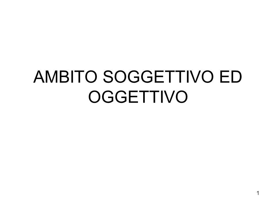 1 AMBITO SOGGETTIVO ED OGGETTIVO