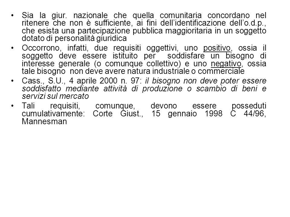 Disciplina codicistica (interpretata dallAVCP, Det.