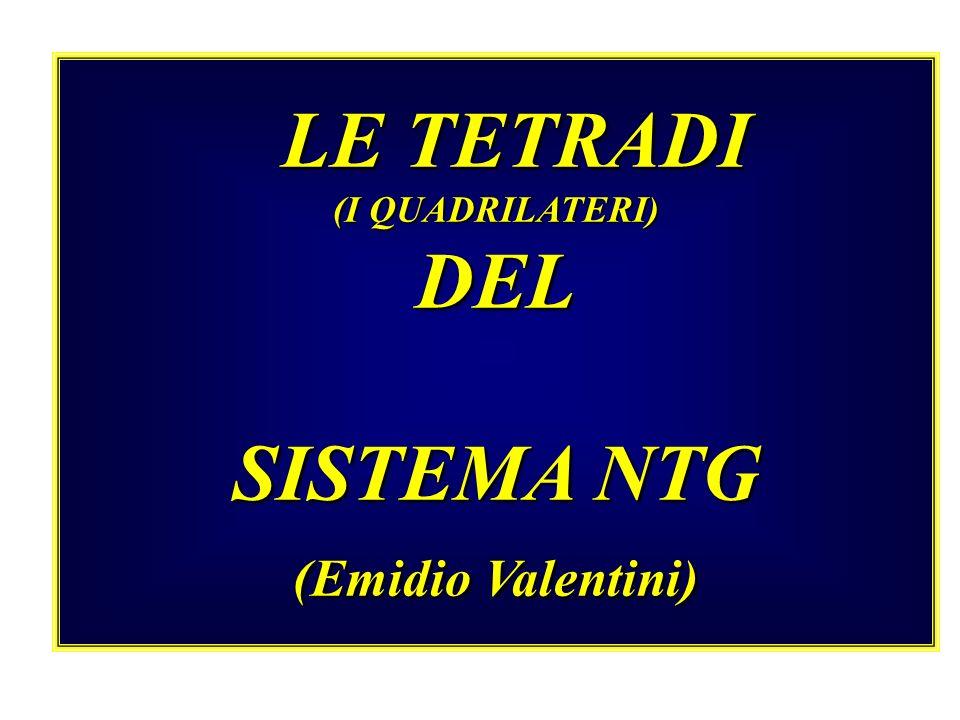 LE TETRADI LE TETRADI (I QUADRILATERI) DEL SISTEMA NTG (Emidio Valentini)