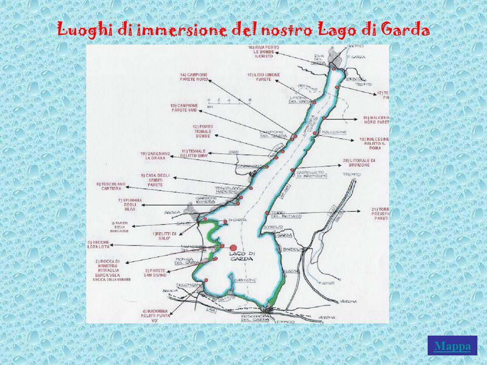 Luoghi di immersione del nostro Lago di Garda Mappa