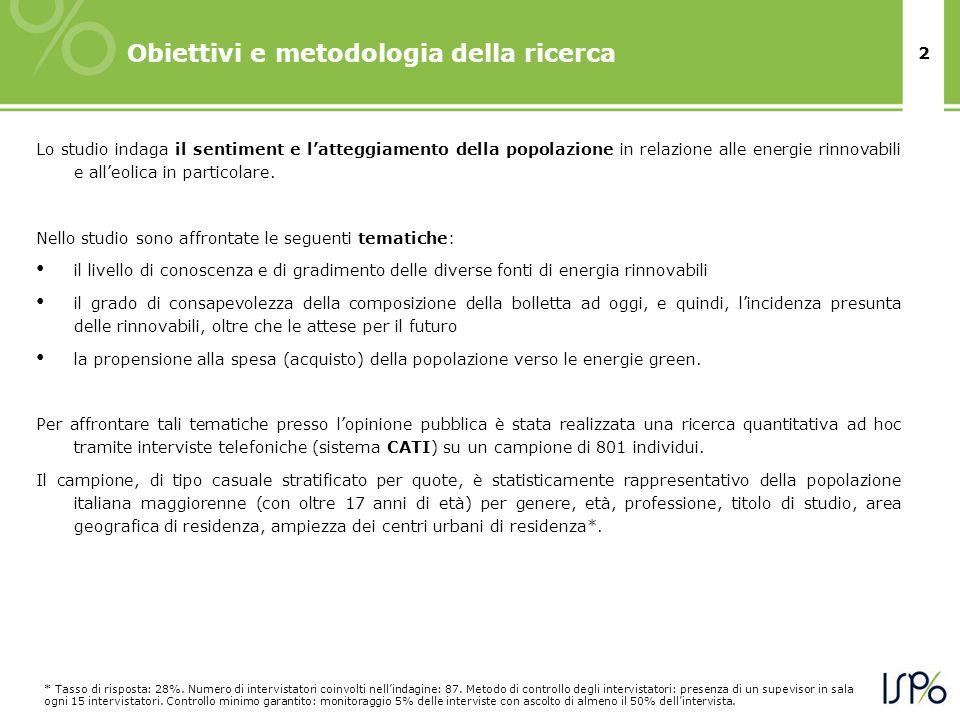 2 Obiettivi e metodologia della ricerca * Tasso di risposta: 28%.