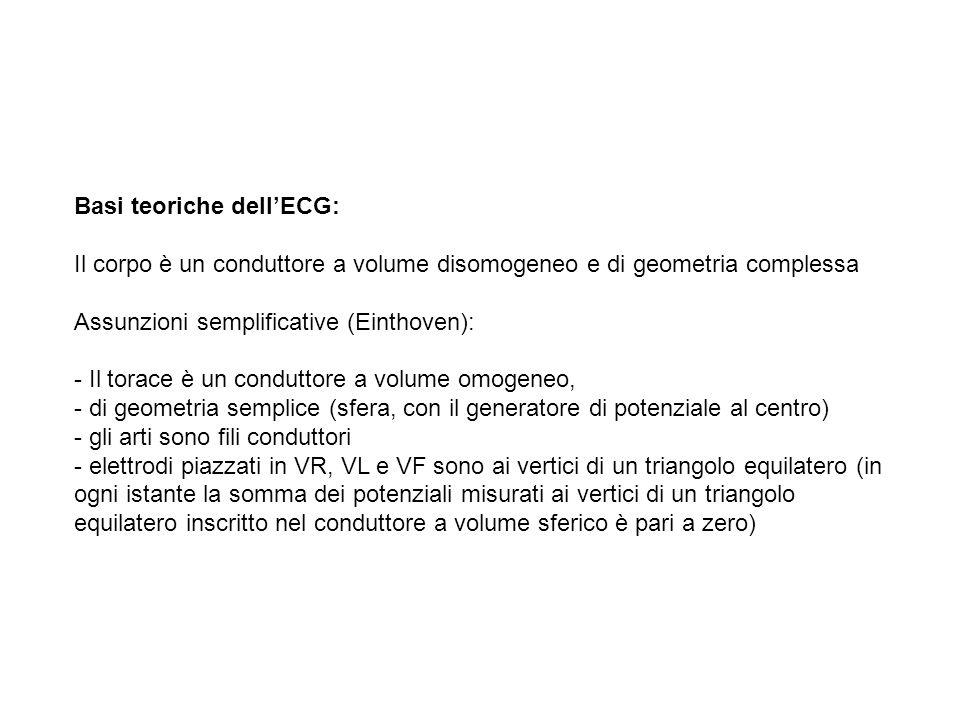 Basi teoriche dellECG: Il Cuore è un generatore di potenziale solo in alcuni momenti della sua attività elettrica
