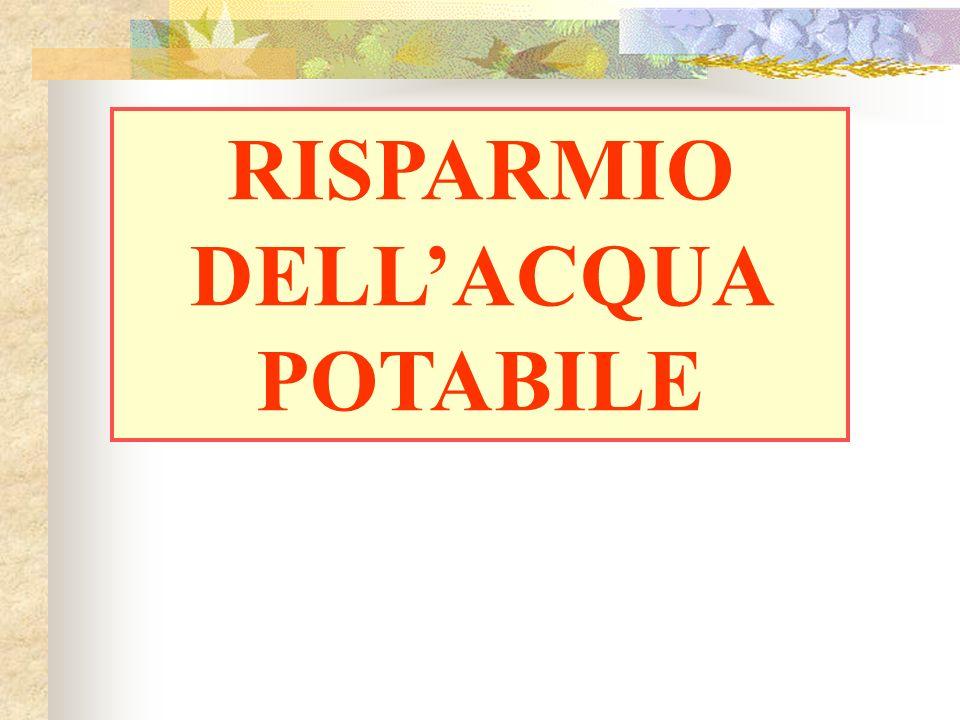 RISPARMIO DELLACQUA POTABILE