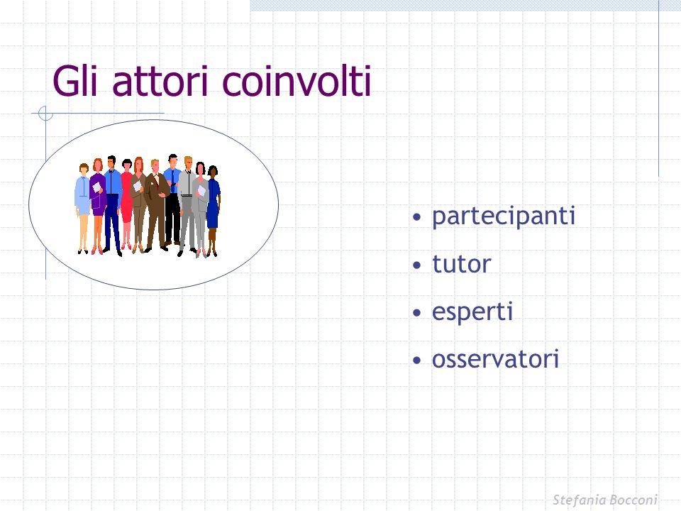 partecipanti tutor esperti osservatori Gli attori coinvolti Stefania Bocconi