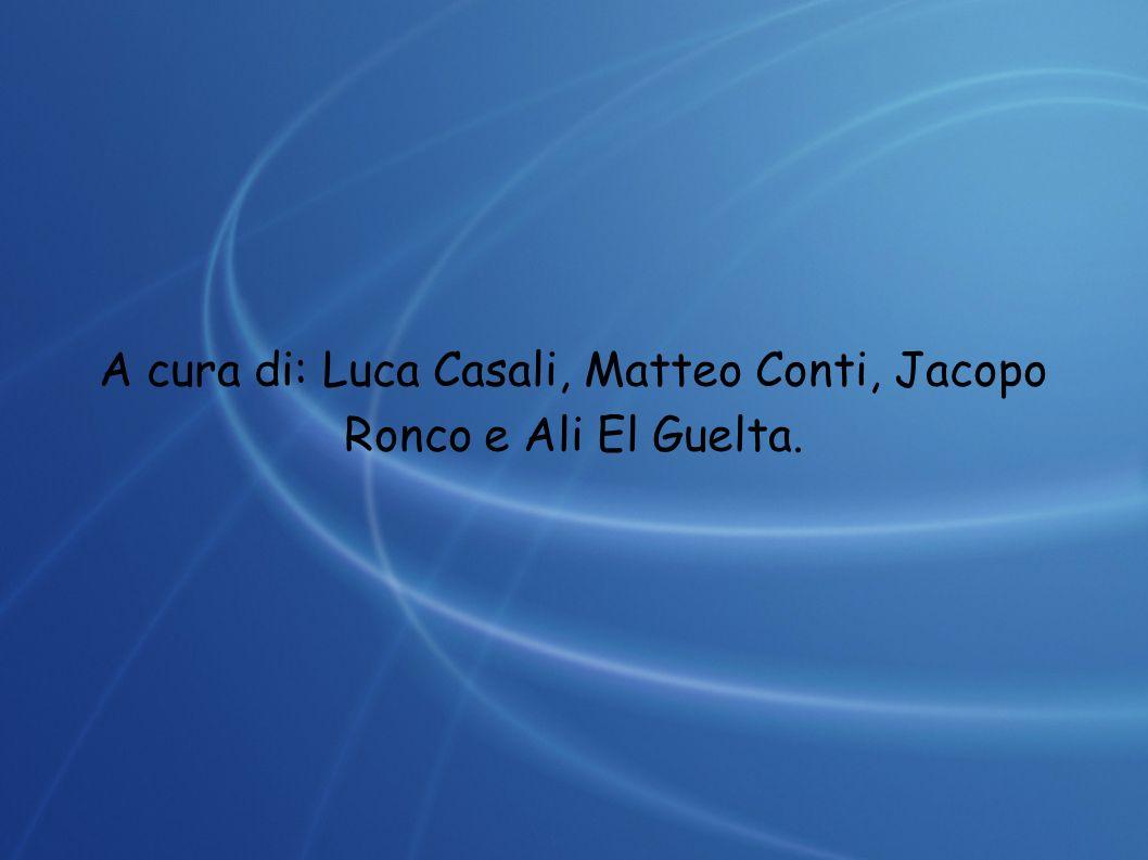 A cura di: Luca Casali, Matteo Conti, Jacopo Ronco e Ali El Guelta.