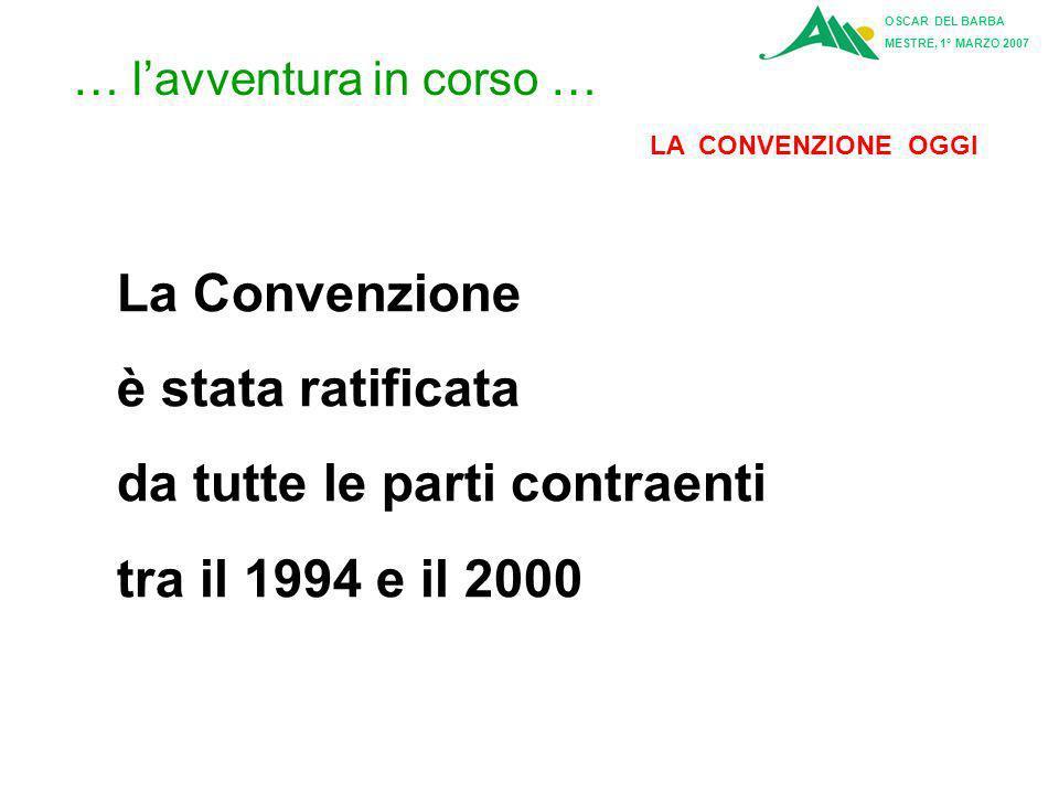 OSCAR DEL BARBA MESTRE, 1° MARZO 2007 Articolo 9: Segretariato La Conferenza delle Alpi può deliberare per consenso l'istituzione di un Segretariato P