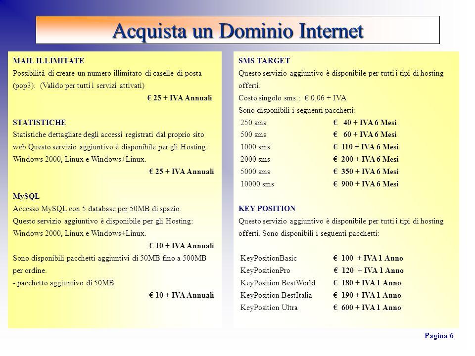 OFFERTA BASE : 600 + IVA - Registrazione dominio.- Digitalizzazione logo aziendale.