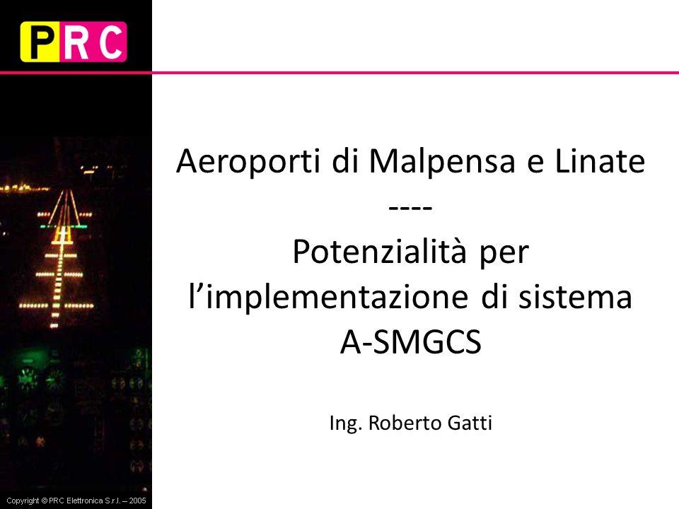 Aeroporti di Malpensa e Linate ---- Potenzialità per limplementazione di sistema A-SMGCS Ing. Roberto Gatti