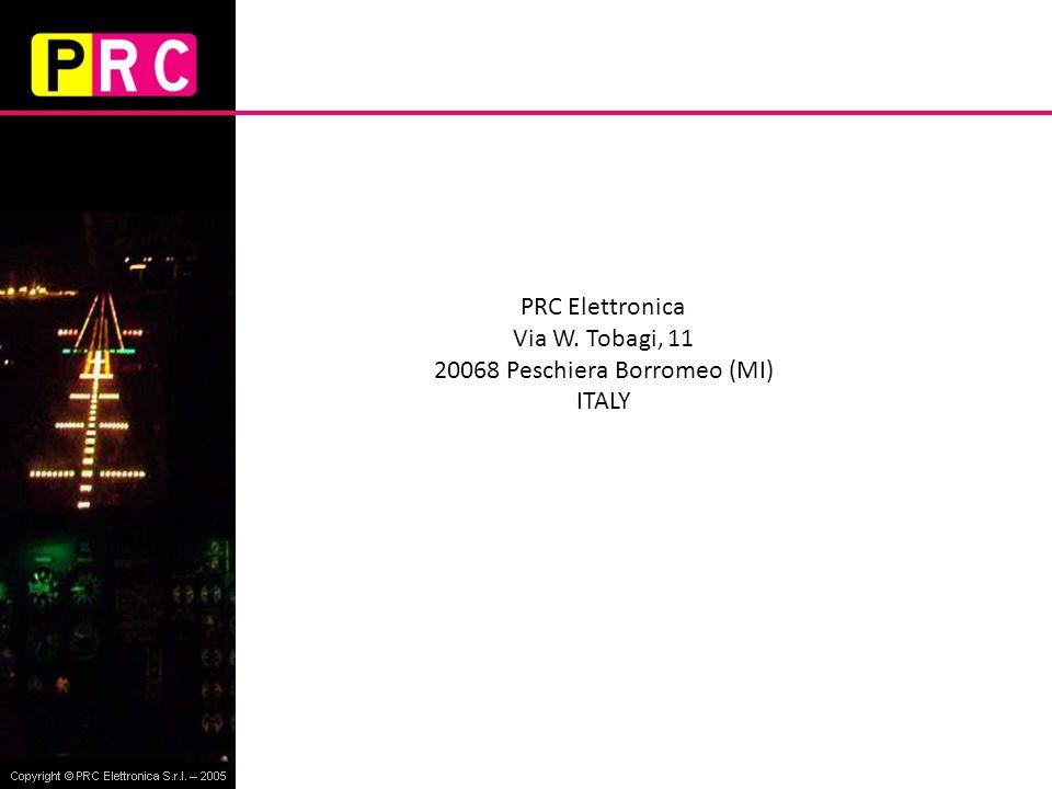 PRC Elettronica Via W. Tobagi, 11 20068 Peschiera Borromeo (MI) ITALY