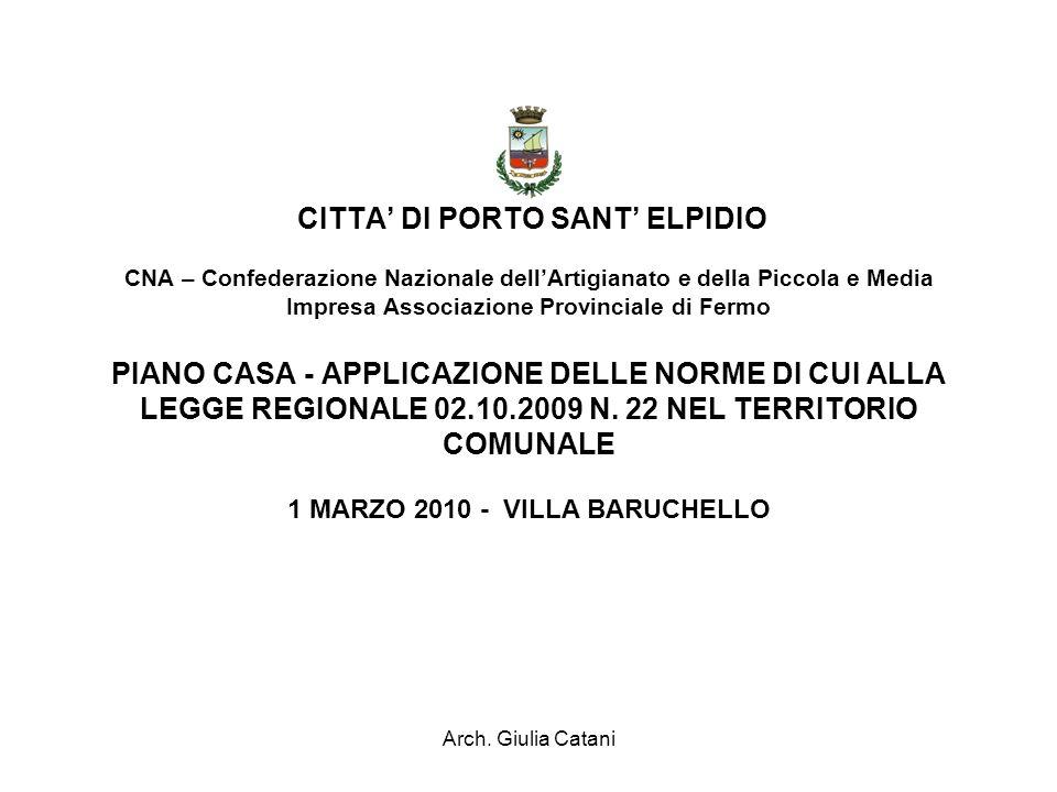 Arch.Giulia Catani Riferimenti normativi Legge n.