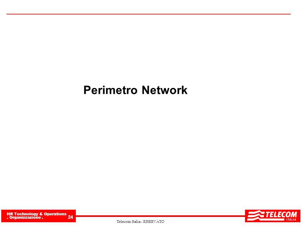 HR Technology & Operations. Organizzazione. 24 Telecom Italia - RISERVATO Perimetro Network
