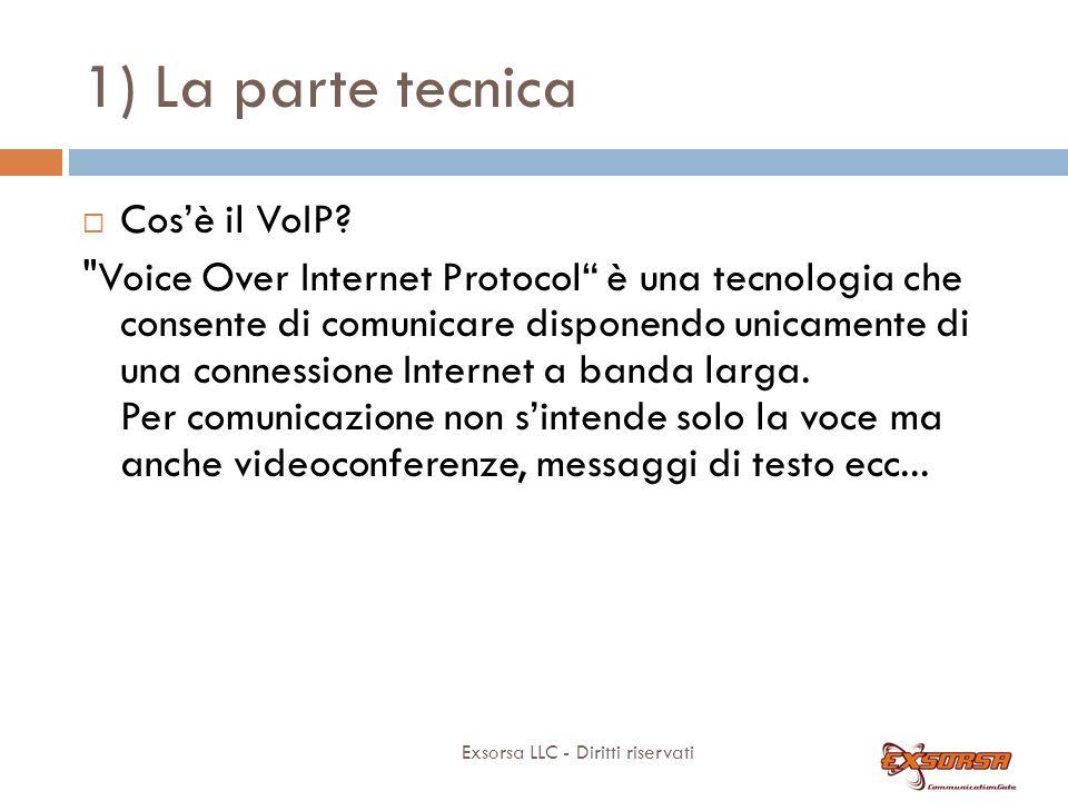 1) La parte tecnica Exsorsa LLC - Diritti riservati Cosè il VoIP?