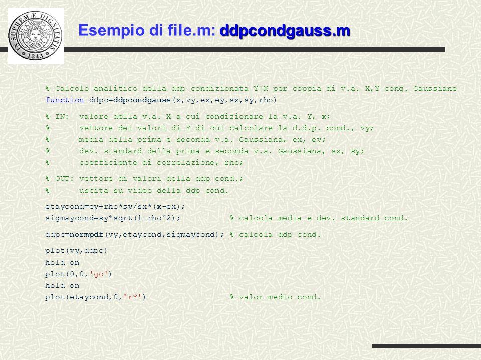 % Calcolo analitico della ddp condizionata Y|X per coppia di v.a. X,Y cong. Gaussiane function ddpc=ddpcondgauss(x,vy,ex,ey,sx,sy,rho) % IN: valore de