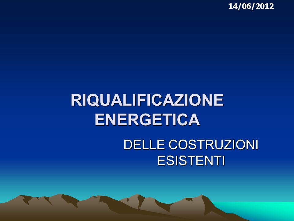 RIQUALIFICAZIONE ENERGETICA DELLE COSTRUZIONI ESISTENTI 14/06/2012